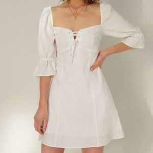 Aritzia Wilfred Stanza Dress in White, XS, NWT